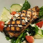 Salmon Bacon Spinach Salad