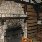 Cabin fireplace has carbon monoxide alarms for safety