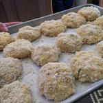 crab cakes in the making