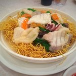 Hong Kong noodles with seafood
