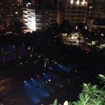 Main pool at night. Beautiful!!