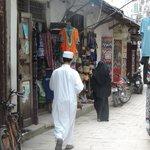 A hotel staff accompanied us shopping thru the alley