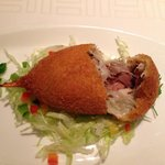 カニ肉とフォアグラなどの詰め物
