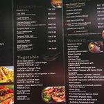 our menu 1