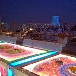 Lounge bar sur le toit terrasse