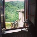 Amelie al balcone