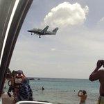 Plane over Maho Beach