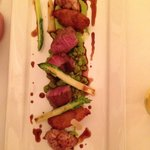 lamb at the fine dining...described as 'amazing'