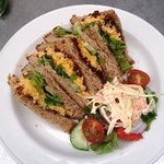 Sandwich with Salad Garnish