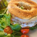 Salmon & Cream Cheese Bagel at Llamas' Larder