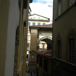 Looking from the hotel towards the Via Calimala