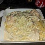 Seafood Spaghetti Kaz Kreole.