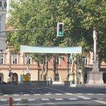 Empty Ljubljana streets on Sunday