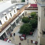 View from top floor five over the courtyard (bar noisy at night)