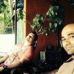 My bro n me at Pokhara beach club