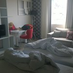 """Our supposedly """"deluxe"""" suite (compare with corresponding photos from the manager)"""