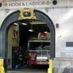 Entrée de la station des pompiers