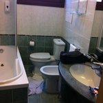 bathroom of a three star hotel by hotwire