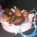 Our homemade (from scratch!!) famous peanut butter eggs are a MAJOR hit at Easter.