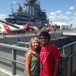 On deck of the Intrepid