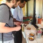 Tasting curd & honey on the way to Polonnaruwa.