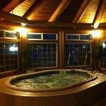 Spacious hot tub.