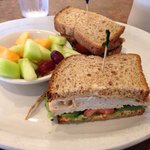 Roasted turkey sandwich from the healthy section