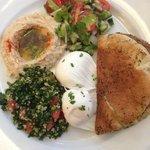 Mediterranean eggs (poached)