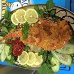 Aragosta sarda in salsa caraibica