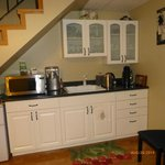 Kitchenette area below stairs