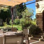terrace. beautiful, pastoral setting