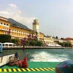 Grand Hotel Gardone from ferry on Lake Garda