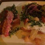 Medium rare tuna steak