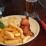 Gammon plus chips and eggs