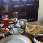 Sri Lankan breakfast. Yummy