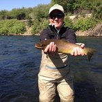 GRAY WITH BROWN TROUT ON LOWER PROVO RIVER