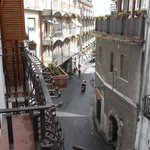 View of street from room