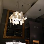 Zettel's Ingo Maurer light fixture at The Cook, Nervi