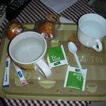 Tè verde e muffin offerti