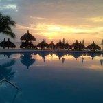 Beach Pool at Sunset
