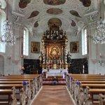 Inside the church in Maria Gern