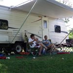 RV Site - relaxing in the shade