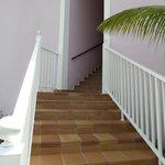 Escadas que levam ao 1ºandar