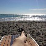 Ahhh...this is the life!  Enjoying the beach at Serra degli Alimini 1  |  Serra degli Alimini 1,