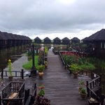 Beautiful villas on the Inle Lake