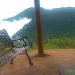 Sitting area outside Haloumi