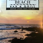 The Moonstone Beach Bar & Grill menu cover