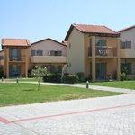 The apartment blocks