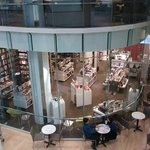 Nice Book Store and coffee shop inside the museum