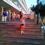 Escadas de acesso ao hotel